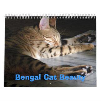ベンガル猫の美しい カレンダー