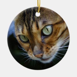 ベンガル美しい猫 セラミックオーナメント