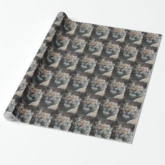 ベンガル美しい猫 ラッピングペーパー