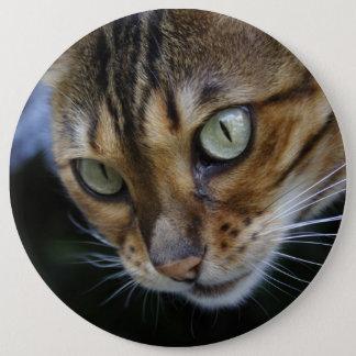 ベンガル豪華な猫 15.2CM 丸型バッジ