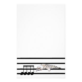 ベンガル音楽的な猫 便箋