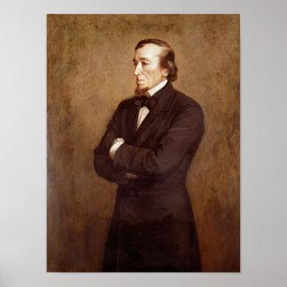 ベンジャミン・ディズレーリのポートレート ポスター
