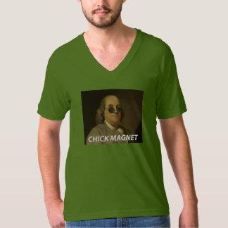 ベンジャミン・フランクリンのひよこの磁石のTシャツ Tシャツ