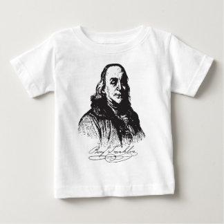 ベンジャミン・フランクリンのポートレートおよび署名のデザイン ベビーTシャツ