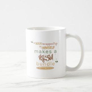 ベンジャミン・フランクリンの引用文非常に小さい束 コーヒーマグカップ