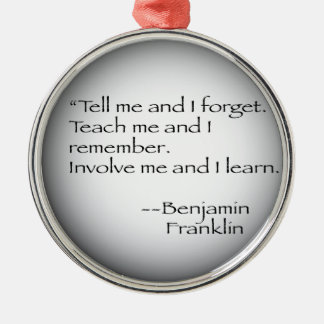 ベンジャミン・フランクリンの引用文 メタルオーナメント