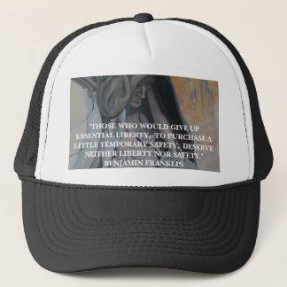 ベンジャミン・フランクリンの引用文-帽子 キャップ