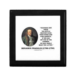 ベンジャミン・フランクリンの怠惰のプライド税のより重い手 ギフトボックス