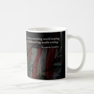 ベンジャミン・フランクリンの感動的な執筆引用文のマグ コーヒーマグカップ