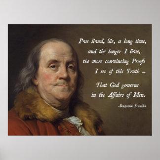 ベンジャミン・フランクリンの神 ポスター