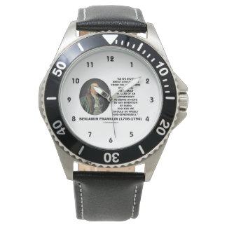 ベンジャミン・フランクリンの素晴らしい利点の発明の引用文 腕時計