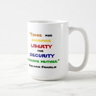 ベンジャミン・フランクリンの自由のマグ コーヒーマグカップ