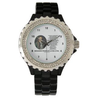 ベンジャミン・フランクリンの評価の確率の引用文 腕時計