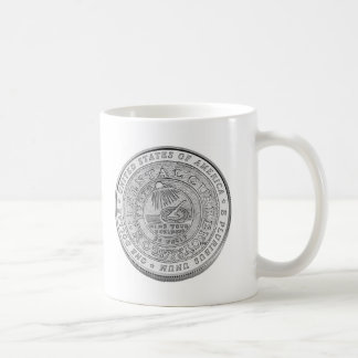 ベンジャミン・フランクリンの銀貨 コーヒーマグカップ