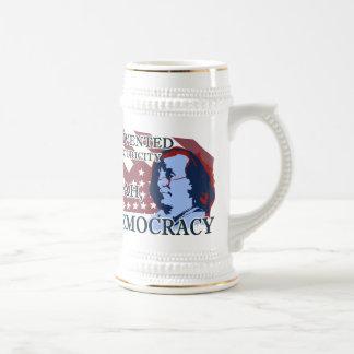 ベンジャミン・フランクリンの電気及び民主主義ステイン ビールジョッキ