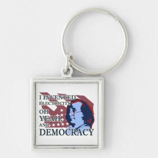 ベンジャミン・フランクリンの電気及び民主主義Keychain キーホルダー