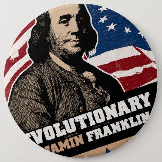 ベンジャミン・フランクリンの革命家ボタン 15.2CM 丸型バッジ