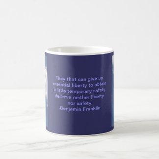 ベンジャミン・フランクリンのqoute コーヒーマグカップ