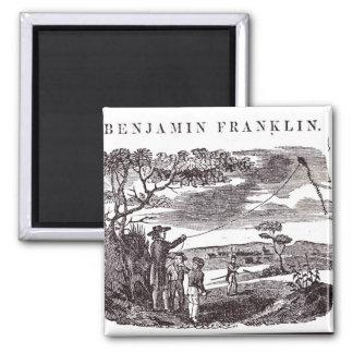 ベンジャミン・フランクリンは彼の凧の実験を行ないます マグネット