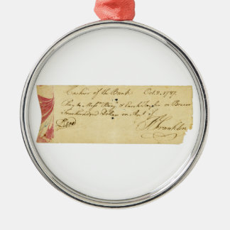 ベンジャミン・フランクリンは点検1787年に10月2日署名しました メタルオーナメント