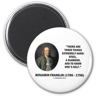ベンジャミン・フランクリン堅い3つの事非常に マグネット