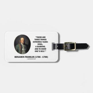 ベンジャミン・フランクリン堅い3つの事非常に ラゲッジタグ