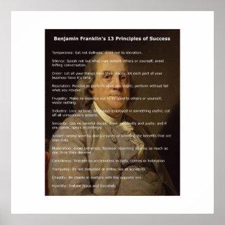 ベンジャミン・フランクリン成功の13の原則 ポスター