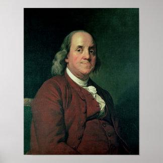 ベンジャミン・フランクリン1782年 ポスター