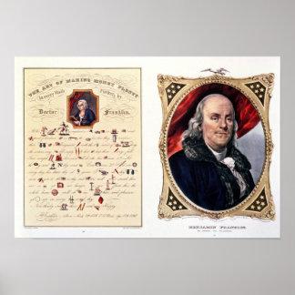 ベンジャミン・フランクリン1847年 ポスター
