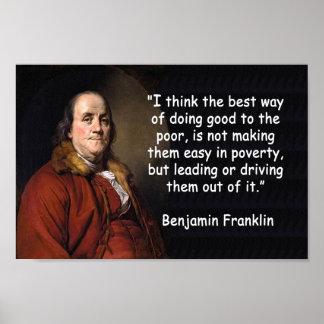 ベンジャミン・フランクリン-お金のために投票します ポスター