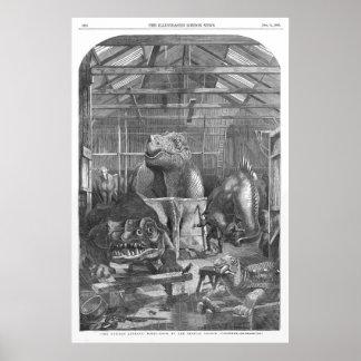 ベンジャーミンのウォーターハウスのHawkinsのスタジオの旧式なプリント ポスター