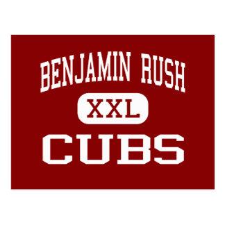 ベンジャーミンの突進-カブス-中間- Rushvilleインディアナ ポストカード