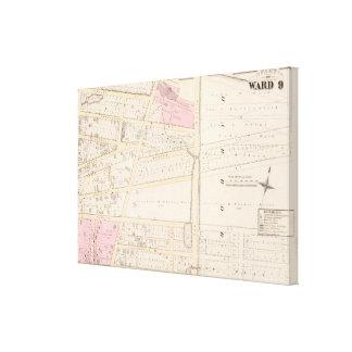 ベンジャーミンアレンはおよびジェームスFennの地図書の地図地図をつくります キャンバスプリント