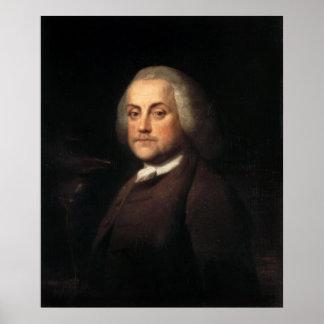 ベンジャーミンウイルソン著ベンジャミン・フランクリンのポートレート ポスター