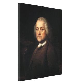 ベンジャーミンウイルソン1759年著ベンジャミン・フランクリン キャンバスプリント