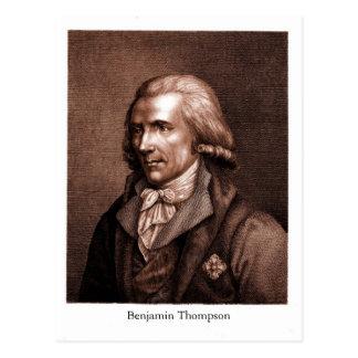 ベンジャーミントムソンの計算Rumford ポストカード