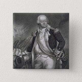 ベンジャーミンリンカーン(1733-1810年) (版木、銅版、版画) 5.1CM 正方形バッジ