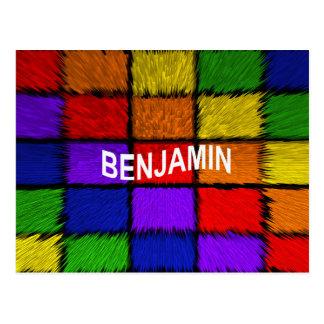ベンジャーミン(男性の名前) ポストカード
