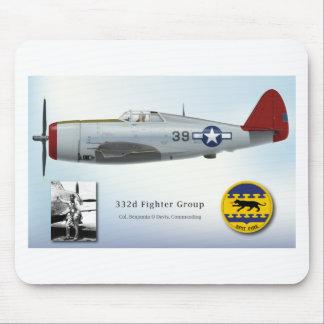 ベンジャーミンOデービスおよび赤い尾P-47落雷 マウスパッド