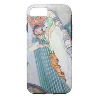 ベンチにあっている女性1913年(w/c紙で) iPhone 8/7ケース