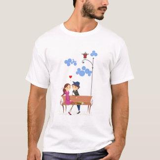 ベンチのカップル Tシャツ