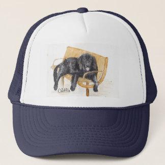 ベンチのニューファウンドランド犬、 キャップ