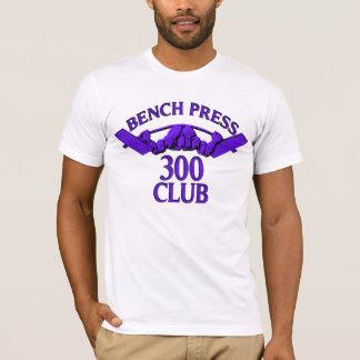 ベンチプレス300クラブ紫色 Tシャツ
