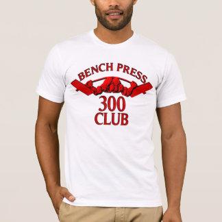 ベンチプレス300クラブ赤 Tシャツ