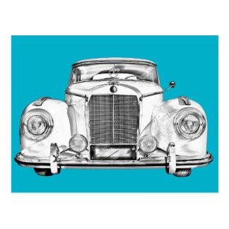 ベンツ300の贅沢車のイラストレーション ポストカード
