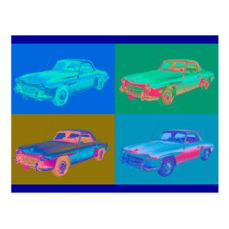 ベンツ300 sl車のポップアート ポストカード