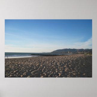 ベントゥーラのビーチの石の突堤 ポスター