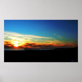 ベントゥーラ桟橋の日没2012年1月8日ポスター ポスター
