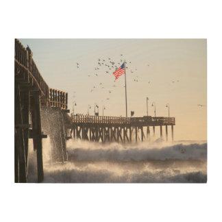 ベントゥーラ桟橋は|エルニーニョ現象を振ります ウッドウォールアート