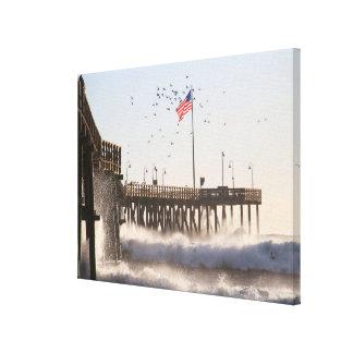 ベントゥーラ桟橋は|エルニーニョ現象を振ります キャンバスプリント